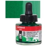PERMANENT GREEN LIGHT - AMSTERDAM ACRYLIC INKS 30ML
