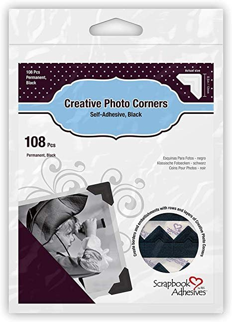 CREATIVE PHOTO CORNERS - BLACK