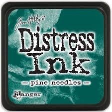 Mini Distress Pad - Pine Needles