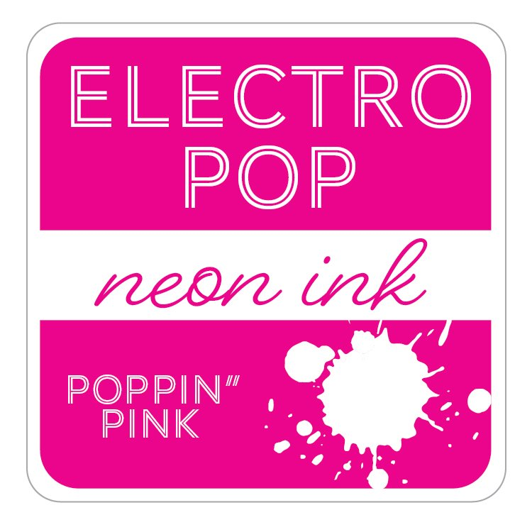POPPIN' PINK - GINA K. ELECTROPOP NEON INK PAD
