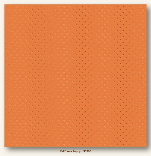 CALIFORNIA POPPY MINI DOT CARDSTOCK