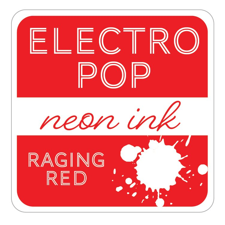 RAGING RED - GINA K. ELECTROPOP NEON INK PAD