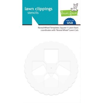 LAWN CLIPPINGS - SQUARE REVEAL WHEEL TEMPLATE