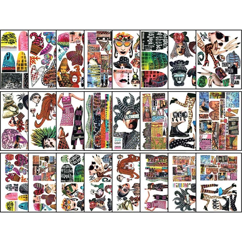 DYLUSIONS COLLAGE SHEETS - SET 2