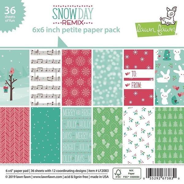SNOW DAY REMIX 6X6 PAPER PAD