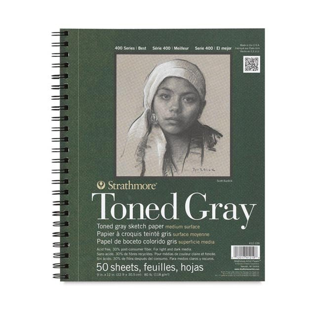 TONED GRAY PAPER PAD - 5.5 X 8.5