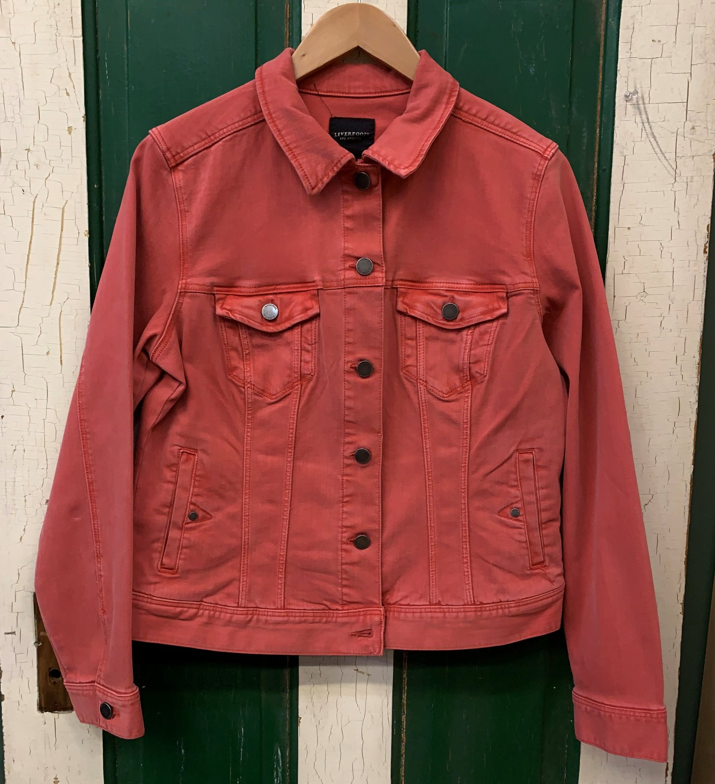 Classic Jean Jacket Coral