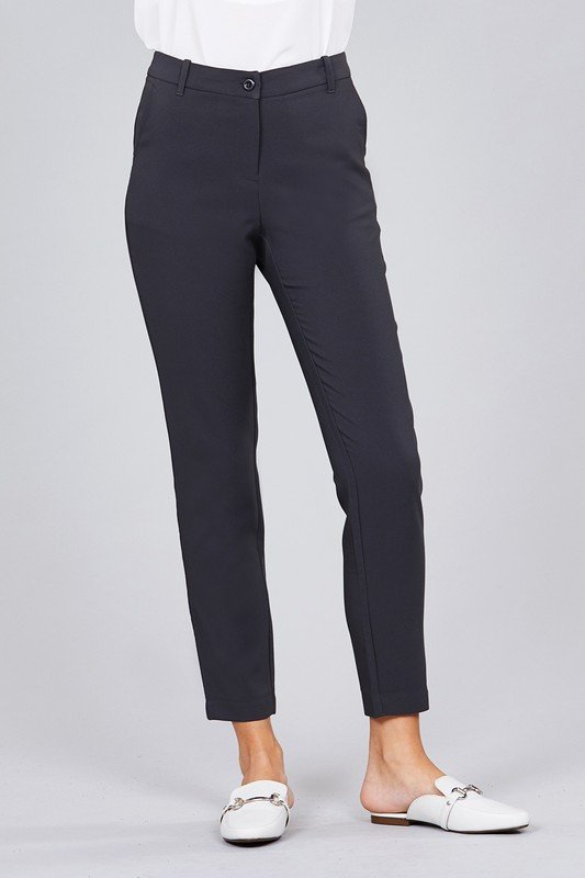 Classic seam side pocket long pants