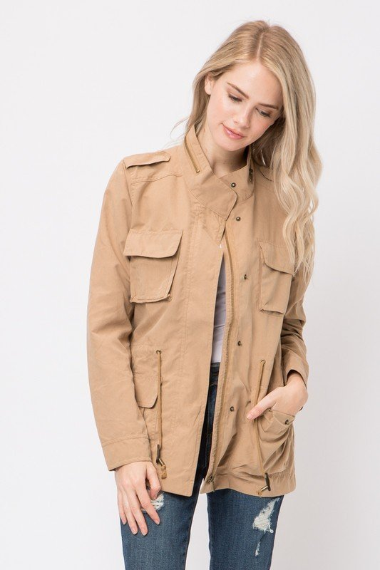Long Sleeve Cargo Jacket
