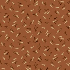 Cheddar & Chocolate - Dashing Around - 0739 - in brown, orange and beige