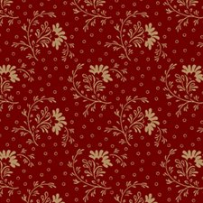Window Box Flowers in red and light prints  0796