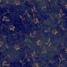 Twisting Flowers in blue 0807