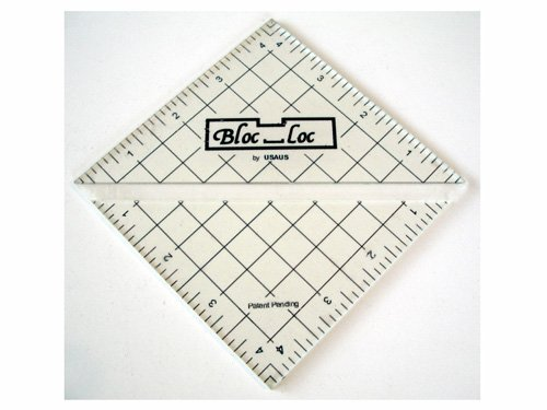 4.5 Inch Bloc-Loc Half Square Triangle Trimming Ruler