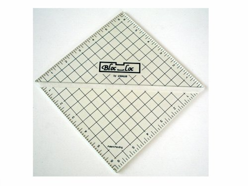 6.5 Inch Bloc-Loc Half Square Triangle Trimming Ruler