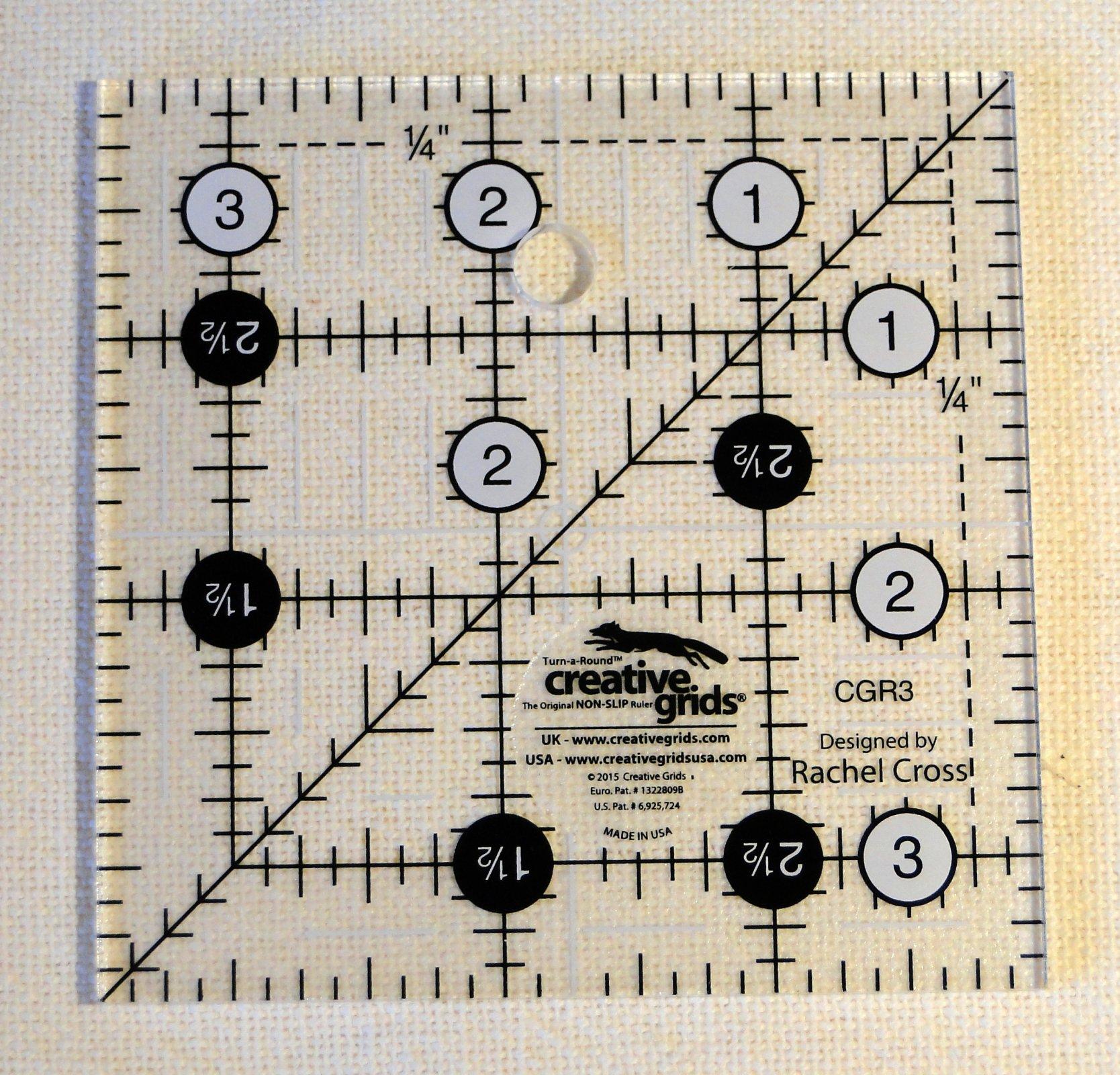 3.5 inch  Creative Grids Non-Slip Ruler
