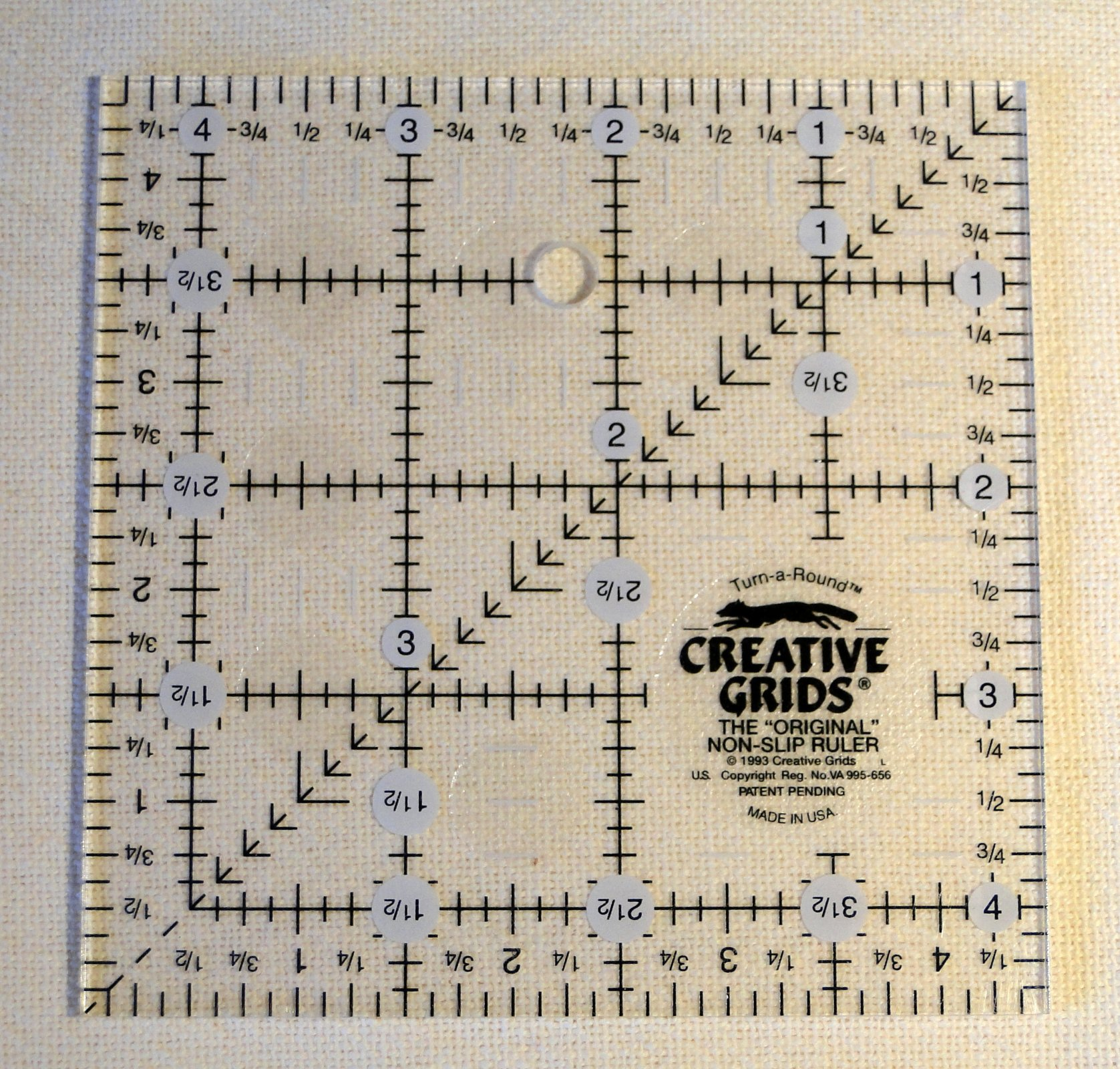4.5 inch Creative Grids Non-Slip Ruler