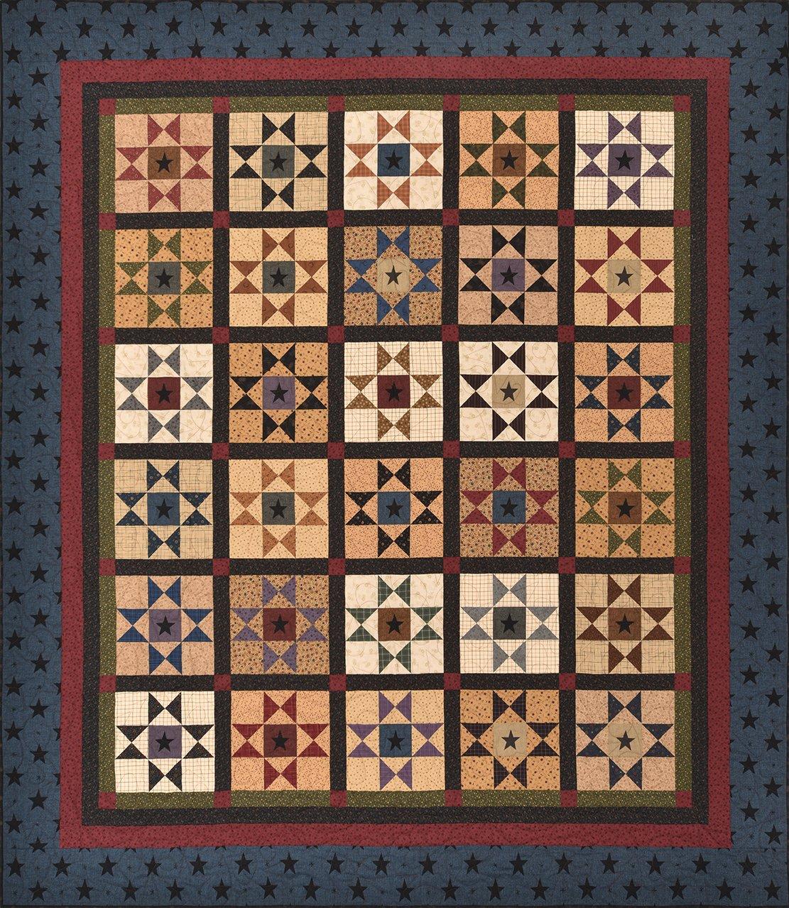 Folk Art Stars Pattern