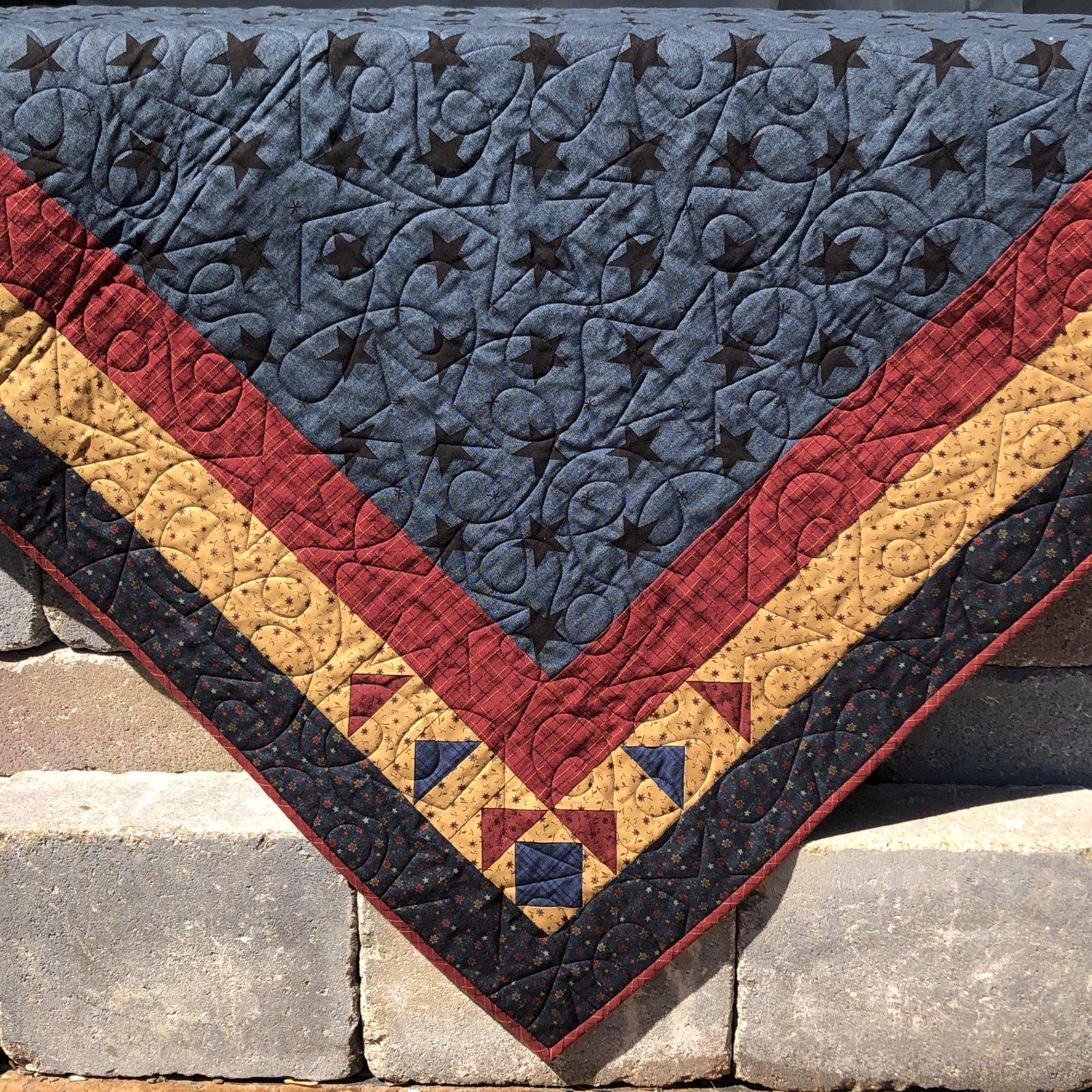 Folk Art Stars Table Topper - FREE Pattern Download