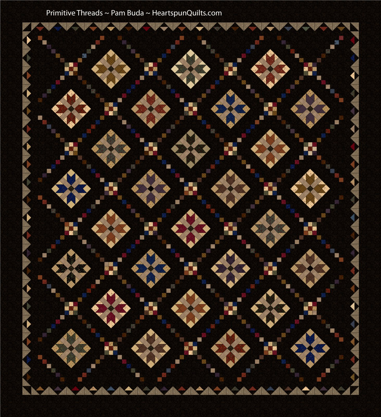 Primitive Threads Quilt Kit