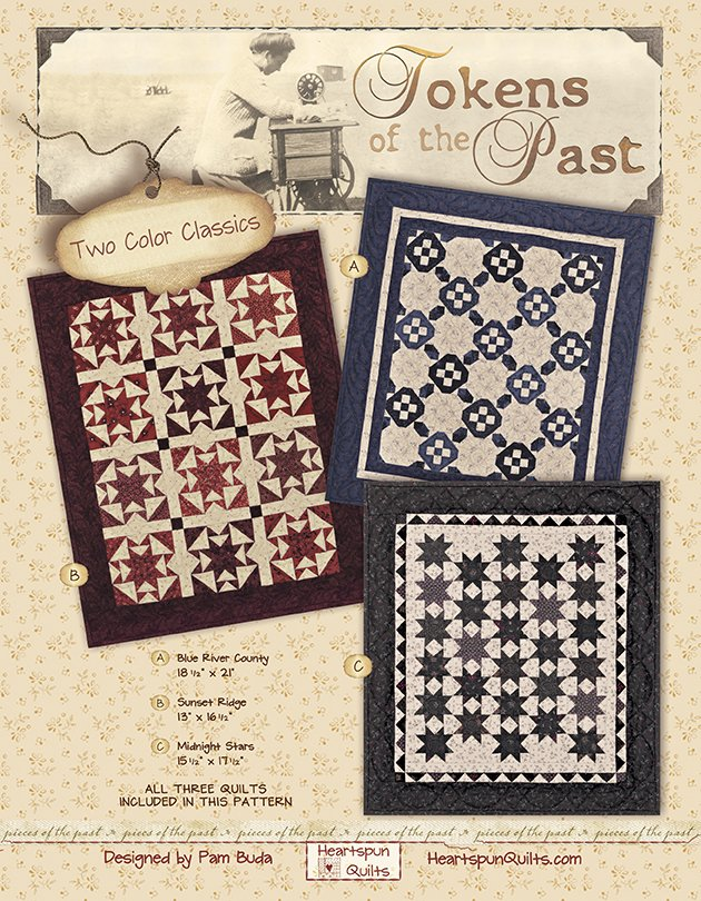 Sunset Ridge Quilt Kit ~ Tokens of the Past: Two Color Classics