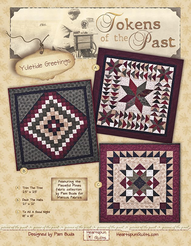 Tokens: Yuletide Greetings Quilt Trio ~ Complete Kit