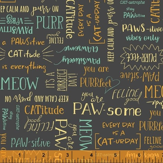 Purrfect day cat words