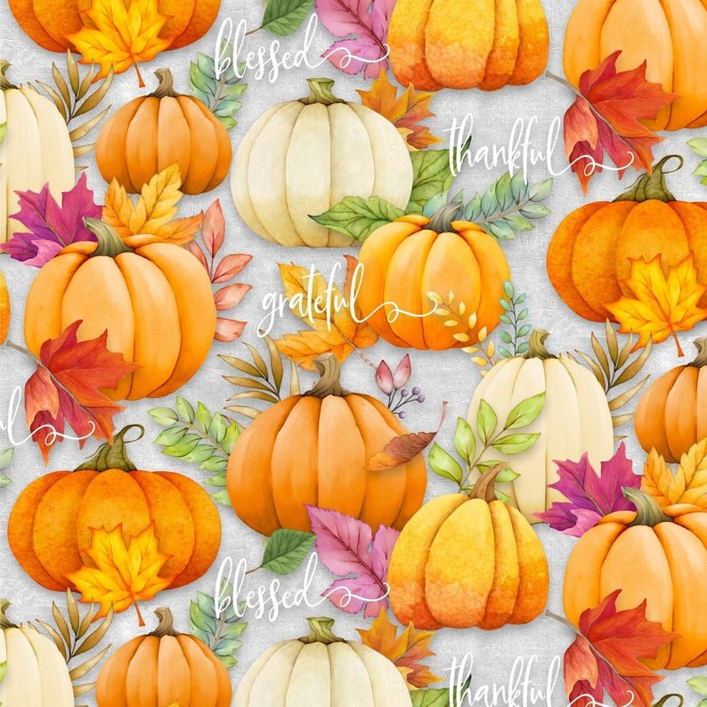 Happy Gatherings Pumpkins Grey