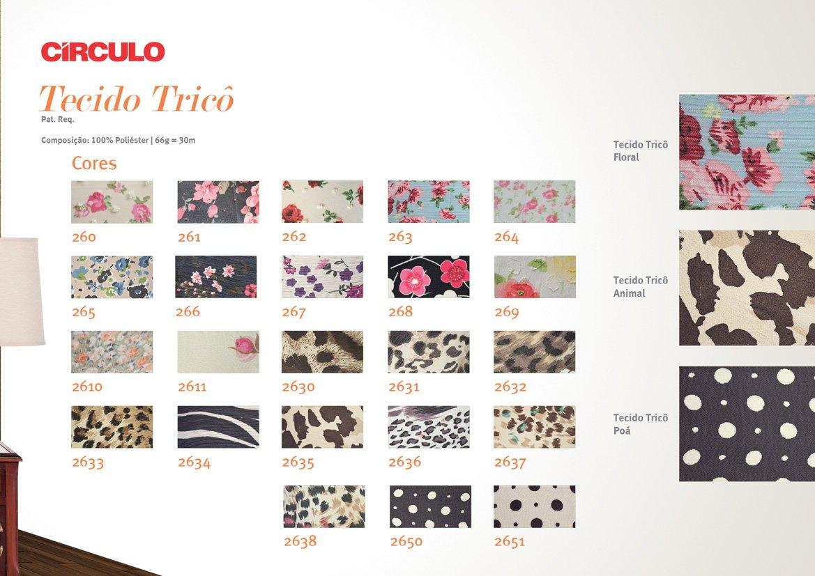 Tecido Trico Floral