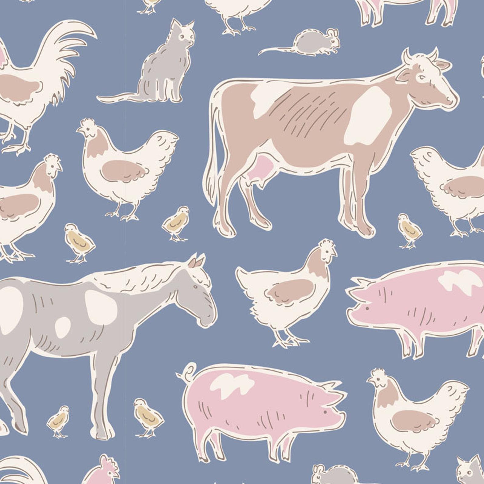 Farm Animals Blue - Tiny Farm