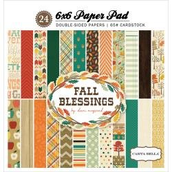 Carta Bella Double-Sided Paper Pad 6X6 24/Pkg Fall Blessings, 12 Designs/2 Each