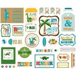 Echo Park Ephemera Dino Friends