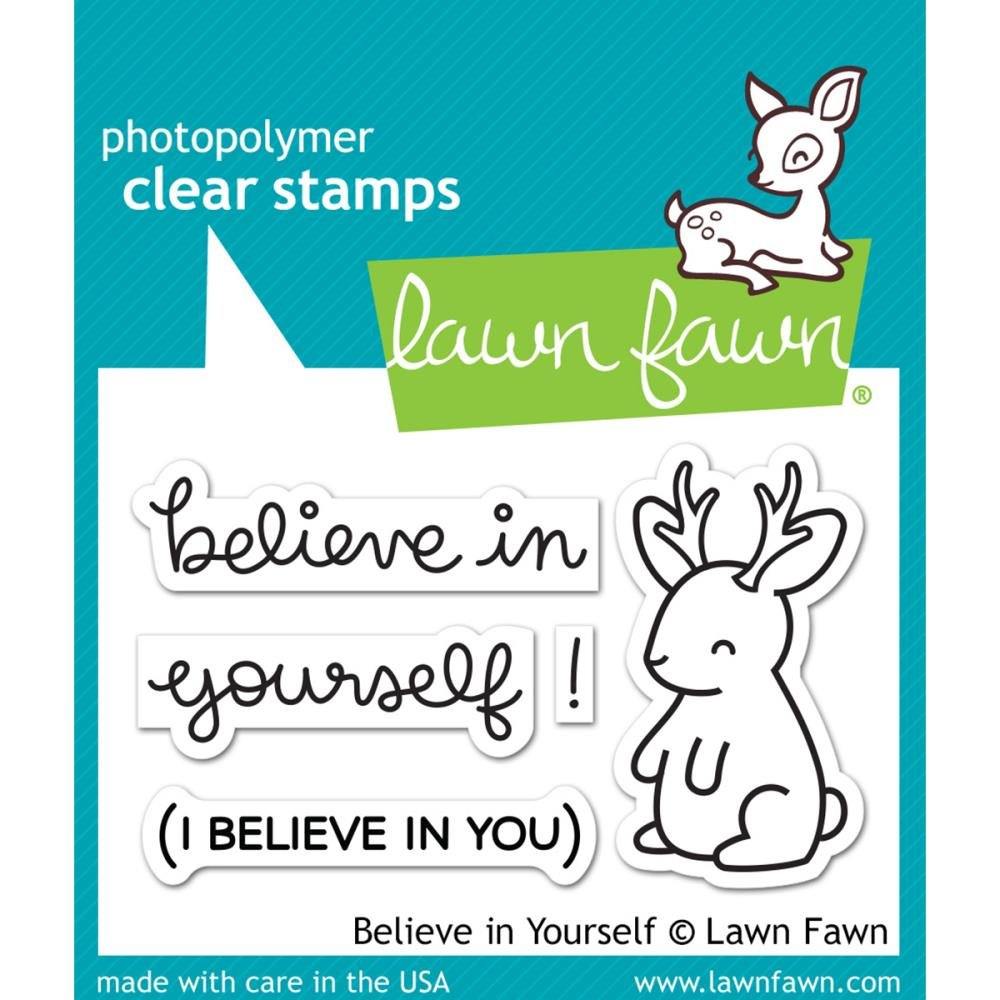 Lawn Fawn Stamp & Die Bundle Believe In Yourself