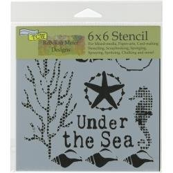 Crafter's Workshop Template 6X6 Under The Sea