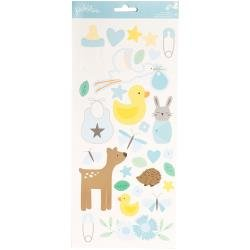 Lullaby Cardstock Stickers 5.5X11 2/Pkg Baby Boy Icons & Accents
