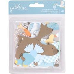Lullaby Ephemera Cardstock Die-Cuts 40/Pkg Baby Boy
