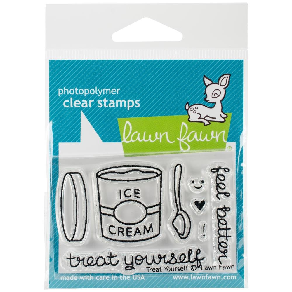 Lawn Fawn Stamp and Die Bundle Treat Yourself