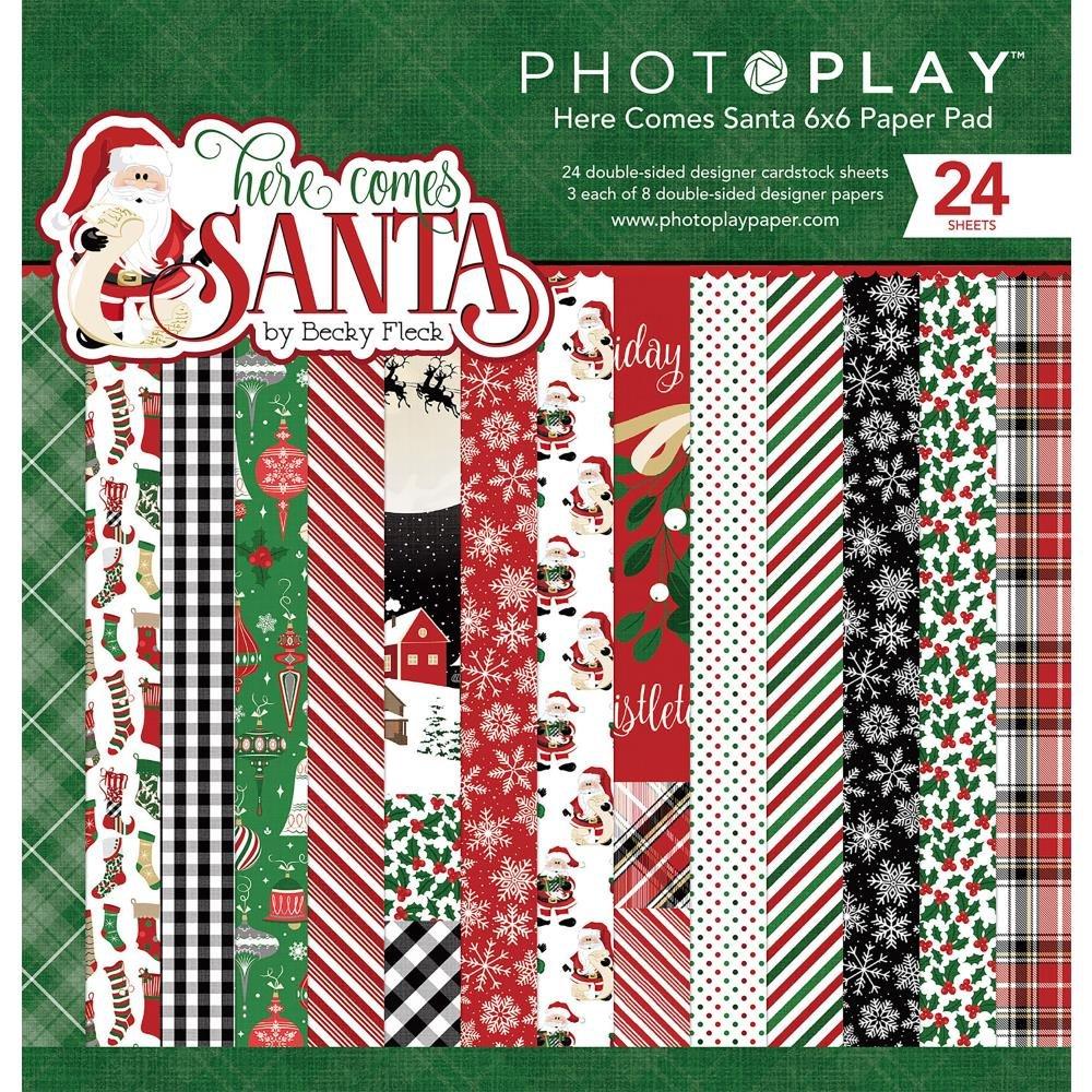 Photo Play 6x6 Paper Pad Here Comes Santa