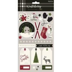 Winterberry Stickers 6X12