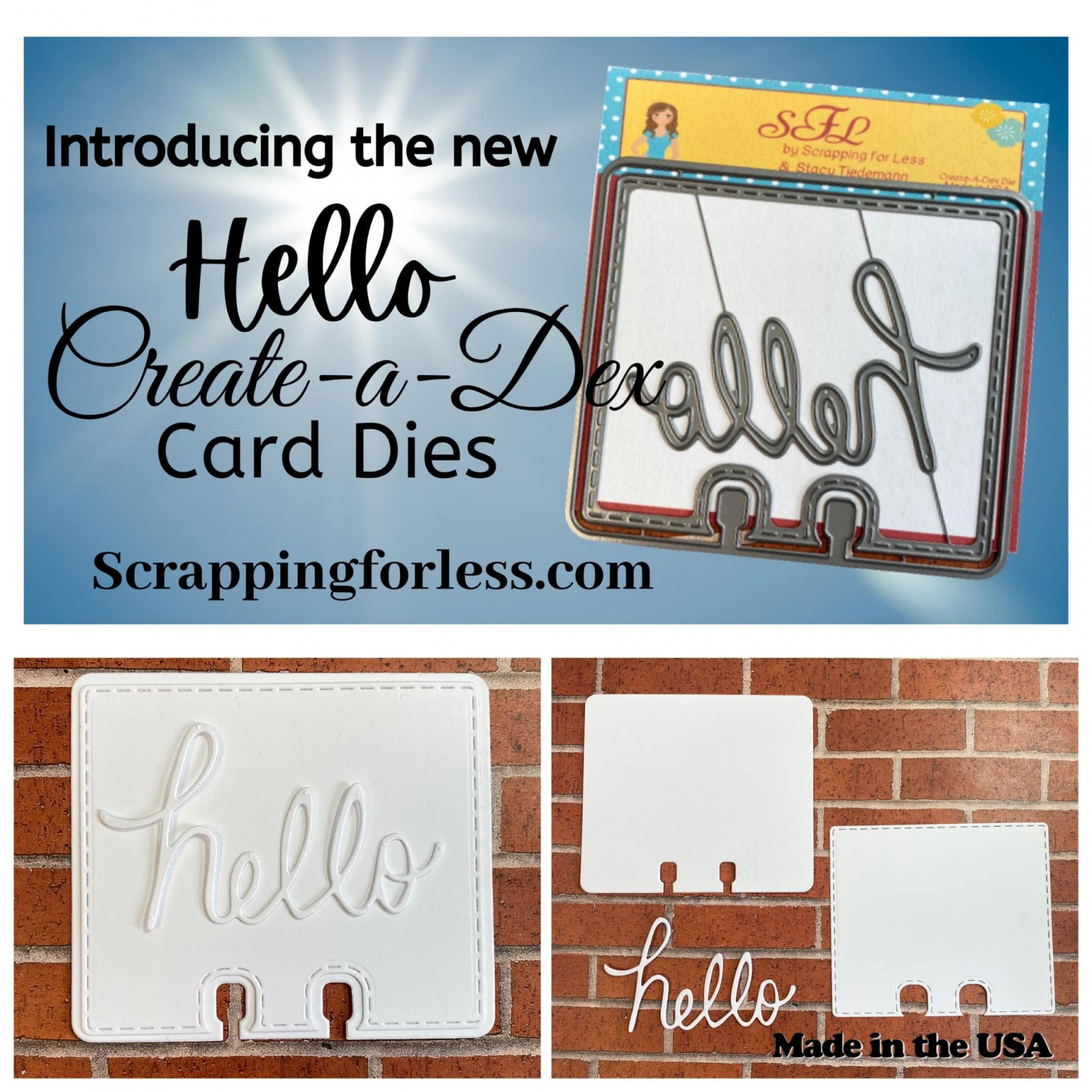 Scrapping for Less Create-a-Dex Die Hello