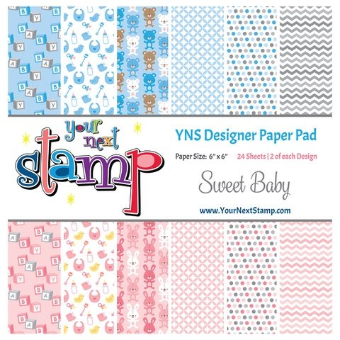 Your Next Stamp 6x6 Paper Pad Sweet Baby