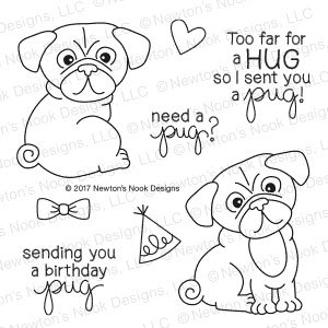 Newton's Nook Designs Pug Hugs