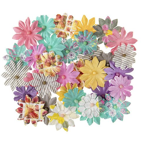Darice Floral Embellishment: Mixed Daisy Flowers