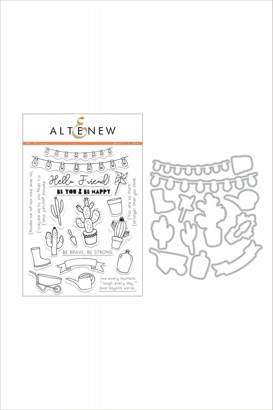 Altenew Be Strong Stamp & Die Bundle