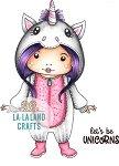 La-La Land Crafts Rubber Stamp Unicorn Marci
