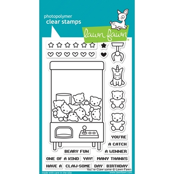 Lawn Fawn You're Claw-some Stamp Set