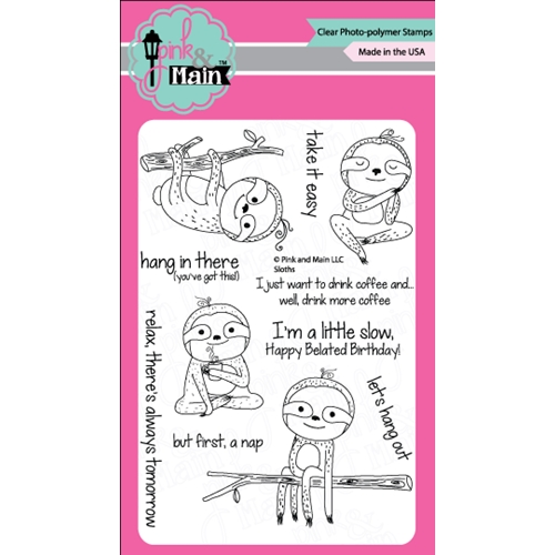 Pink & Main Sloths Stamp