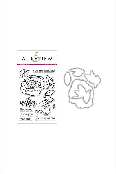 Altenew Penned Rose Stamp & Die Bundle