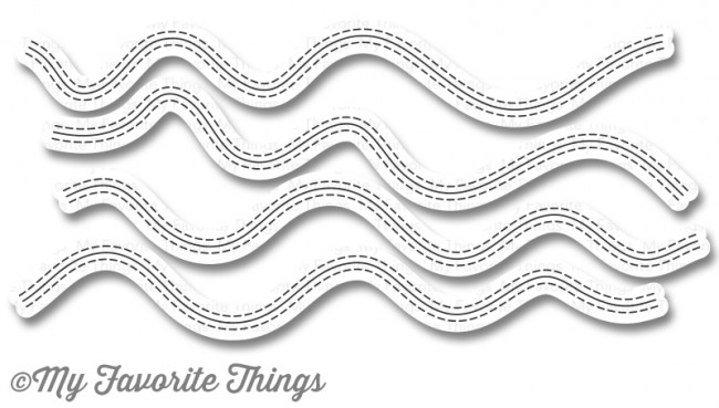 My Favorite Things Die-namics Stitched Whimsical Waves