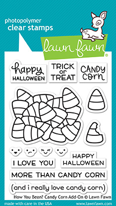 Lawn Fawn Stamp How You Bean? Candy Corn add-on