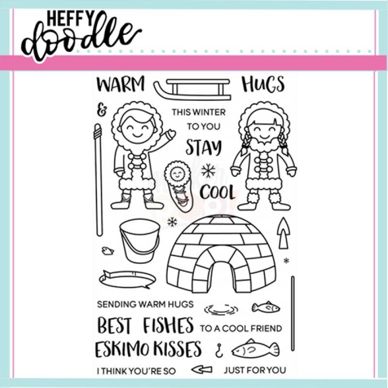 Heffy Doodle Warm Hugs Stamp